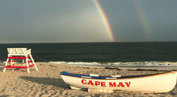 Cape May Beach Rainbow